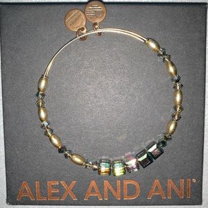 "Alex and Ani ""Mirror"" Beaded Bangle"